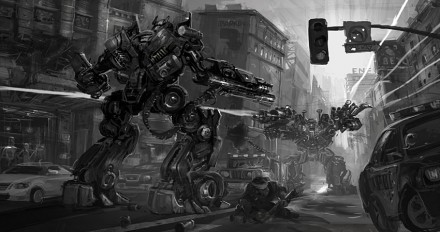 transformers 2 video game concept art