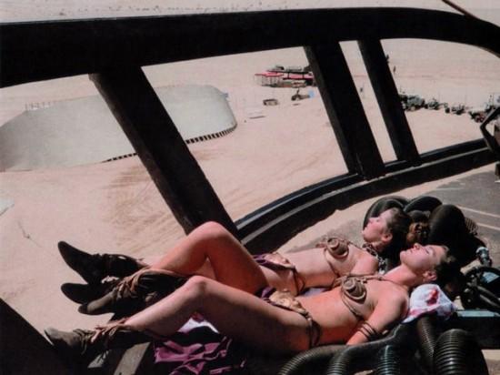 Slave Leia stunt doubles