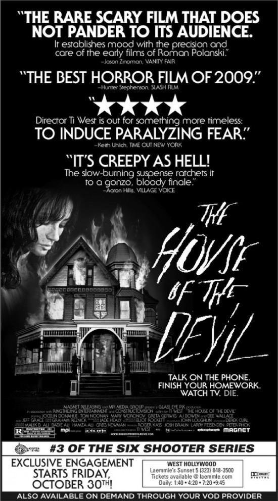 Hunter Stephenson in House of the Devil Ad