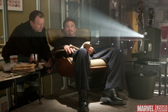 Iron Man 2 behind the scenes