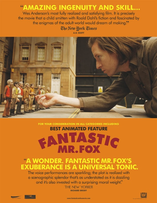 Fantastic Mr. Fox For Your Consideration Awards