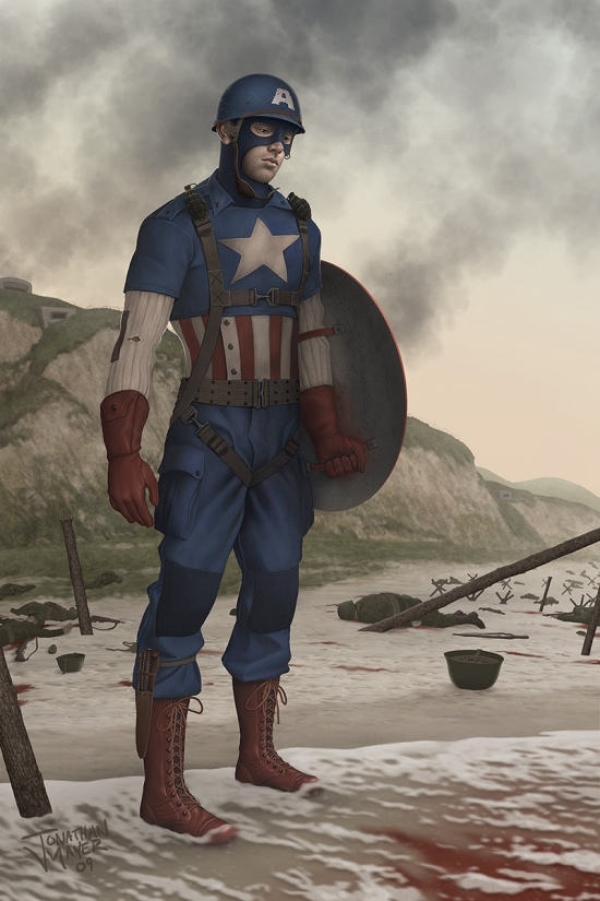 The First Avenger: Captain America NOT REAL concept art by http://elandain.deviantart.com/art/I-could-have-done-more-132286839